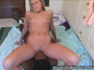 Sexy Blonde Get Interracial Hardcore Sex With Her Black Dude