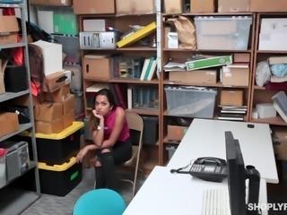 Esperanza del Horno bent over a desk for a fellow's stiff prick