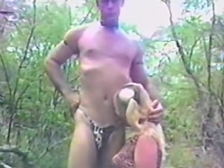 Pigtailed blonde gives her dude a steamy blowjob in an outdoors action