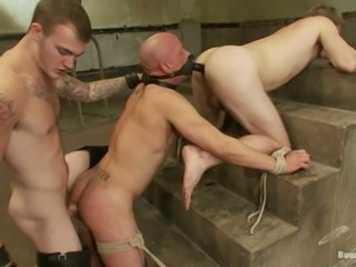 Two Submissive Gay Guys Get Fucked by Machines and Cock in BDSM Vid