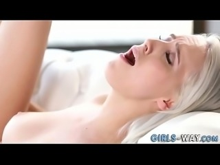 Teen rubs squirting pussy