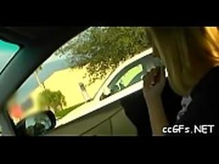 Teen rides pecker on camera