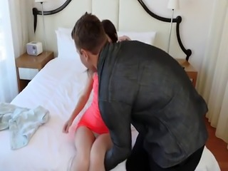 Teen couple 18 and big tit milf fucks first time Exxxtra Small Casting