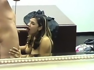 Real amateur teens give guy a blowjob in reality groupsex