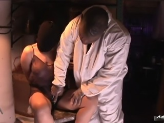 White ass is destroyed by black cock