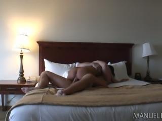 Aroused brunette bitch Kortney Kane rides hard dick of Manuel Ferrara