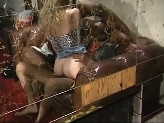 Blonde grannys interracial threesome