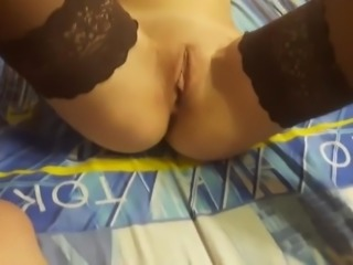 Amateur cutie gets butt fucked and creampied