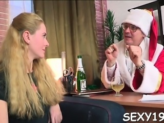 Wild and mind-blowing lesson with lewd older teacher