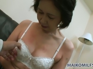 Horny old lady Michiyo Fukumoto is not shy about her passion for exhibitionism