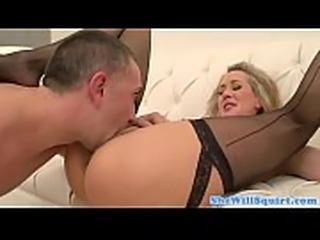 Blonde milf pussylicked and fucked on couch - SlutCams.xyz