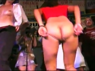 Lusty whorable chicks flashed their tits and butts at the party
