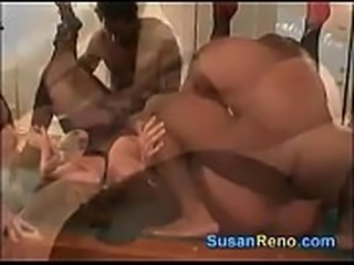 Group sex on vegas pooltable with erin daye