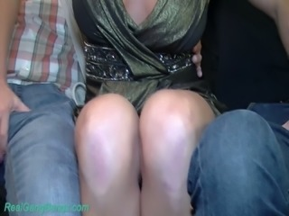 Lascivious mature blondie in the company of horny German guys