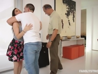 She was very annoyed that her stepbro was watching her get all soapy in the...