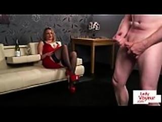 Classy british slut humiliating tugging sub