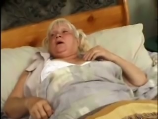 Fat blonde granny Vicky Salas gets her ugly hairy twat drilled hard