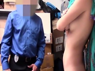 Arab chick pounded by security guard
