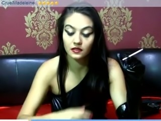 Dominant smoking perverted webcam brunette slut talked too much
