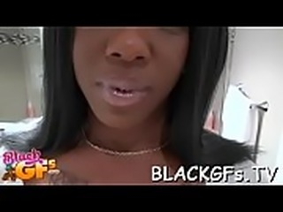 Black sweetheart rides hard cock