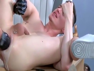 Male fisting massage video gay Brian Bonds and Axel Abysse stir to the