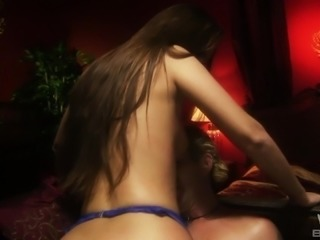 Brunette with nice ass missionary smashed hardcore while moaning