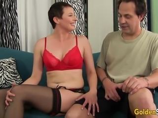 Mature Honey Kali Karinena Is Fucked in Her Mouth and Pussy by a Long Dicked...