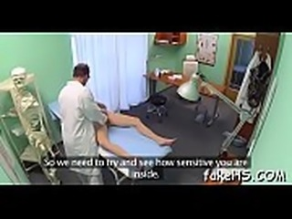 Hard penis permeates doctor&#039_s pussy