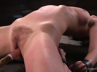The master likes to see his slave in pain. Watch as he makes her horny, while...