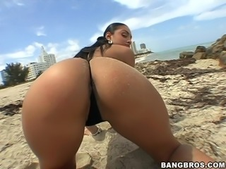 Naughty and Lustful Latina with Big Booty Fucking Amazingly