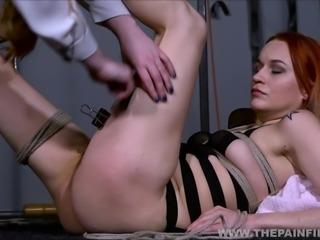 Dirty Marys lesbian bondage and electro bdsm of redhead slave in femdom...