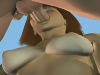 Frightening looking animated hoe is totally busy with sucking dick