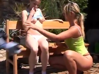 teen sex and braces swallow first time Kate & Tanya in the sun