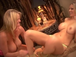 Kelly Madison cannot resist a blonde's tight pulsating cunt