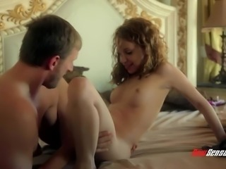 Cock loving girlfriend wakes up her man with a blowjob