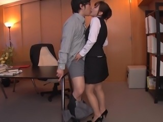 Kaho Kasumi is a hot secretary craving a boss's erected boner