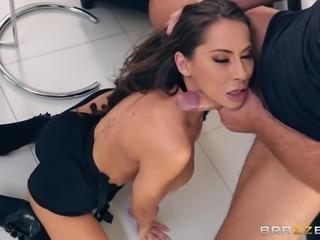 German porn star, Madison Ivy, was teasing her fans, sucking on a huge dildo,...