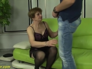 extreme horny hairy german grandma enjoys her first porno video shooting