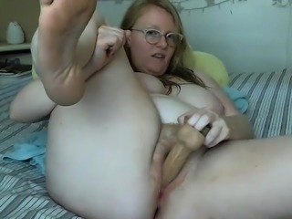 Blonde With A Fat Tight Pussy Toys With Herself