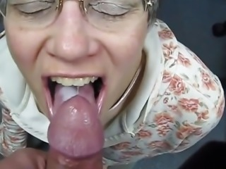 Granny slut swallowing