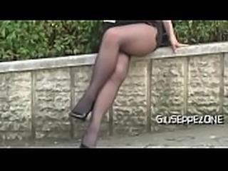 Av model Nao katoh walks in miniskirt gives us panty shots &amp_ upskirt view!