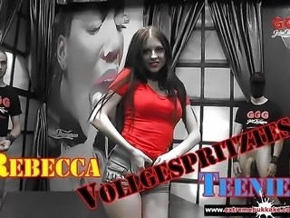 Brunette Babe Rebecca Volpetti Sexy Cum Doll Extreme Bukkake