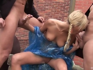 Tori is a kinky blonde who wants to be fucked by two nasty men