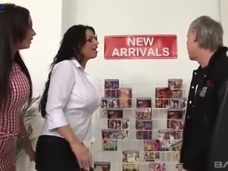 Wild busty Emma Butt looks like the horniest shop assistant ever