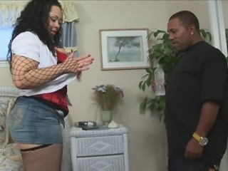Thick white housewife gets some black dick while her husband is at work
