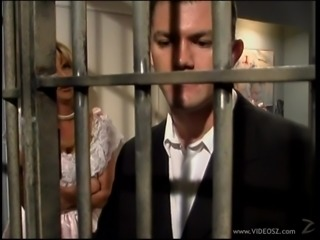 Horny Bride Gives Her Broom A Hot Blowjob In Prison
