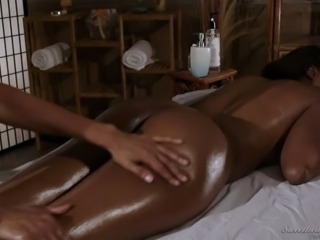 Erotic massage session with really fantastic looking beauty called Anya Ivy