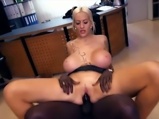 Ardent hoe with extremely huge boobs Lena Lay is good at riding BBC