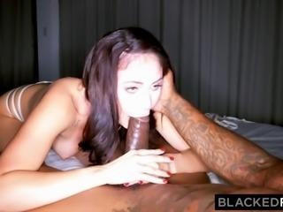 blackedraw kinky brunette wife loves black cock in her hotel
