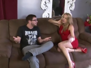 Brutally fucking the pretty face of Amanda Blow who is on her knees